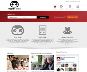 Oscaronline website en applicatie door sinergio