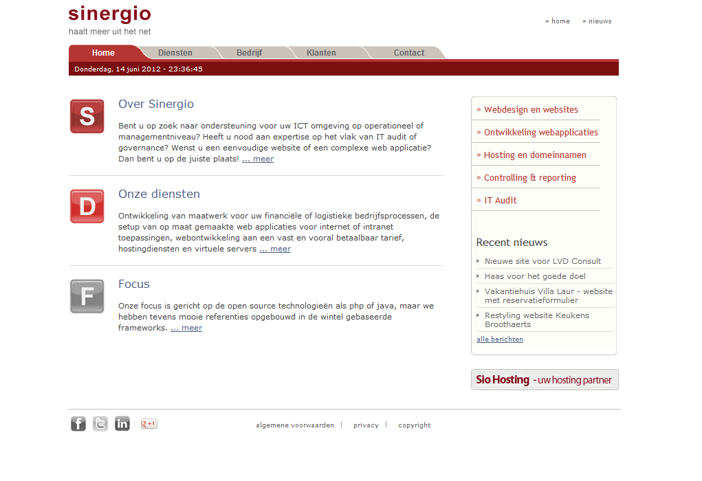 sinergio websites webdesign