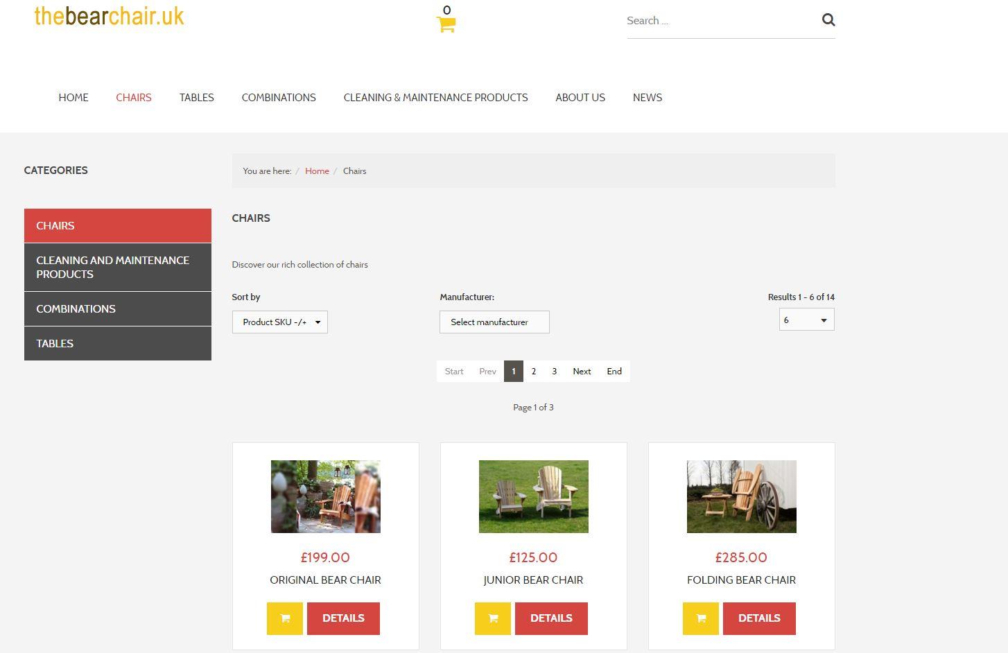 Bearchair webshop 2