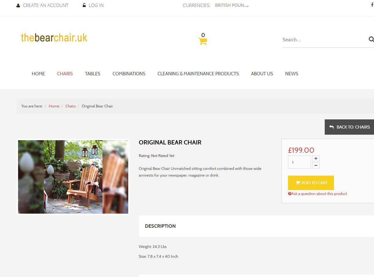 Bearchair webshop 3