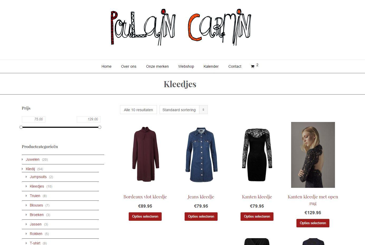 Poulain Carmin webshop 1