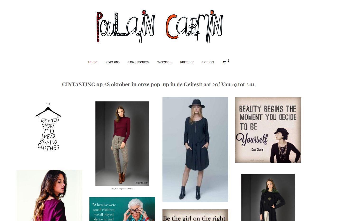 Poulain Carmin webshop