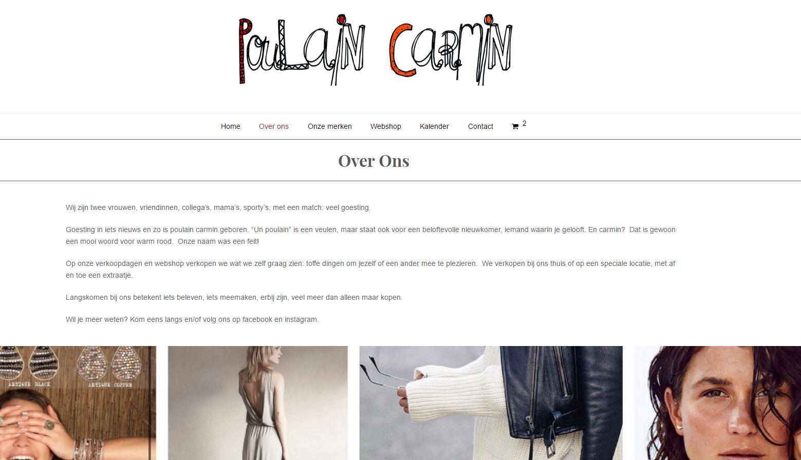 Poulain Carmin webshop 2