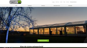 party professionals website online verhuur tent