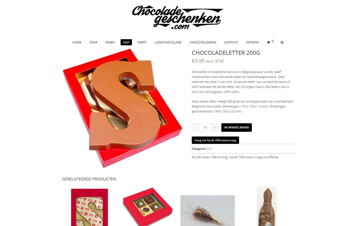 Chocoladegeschenken
