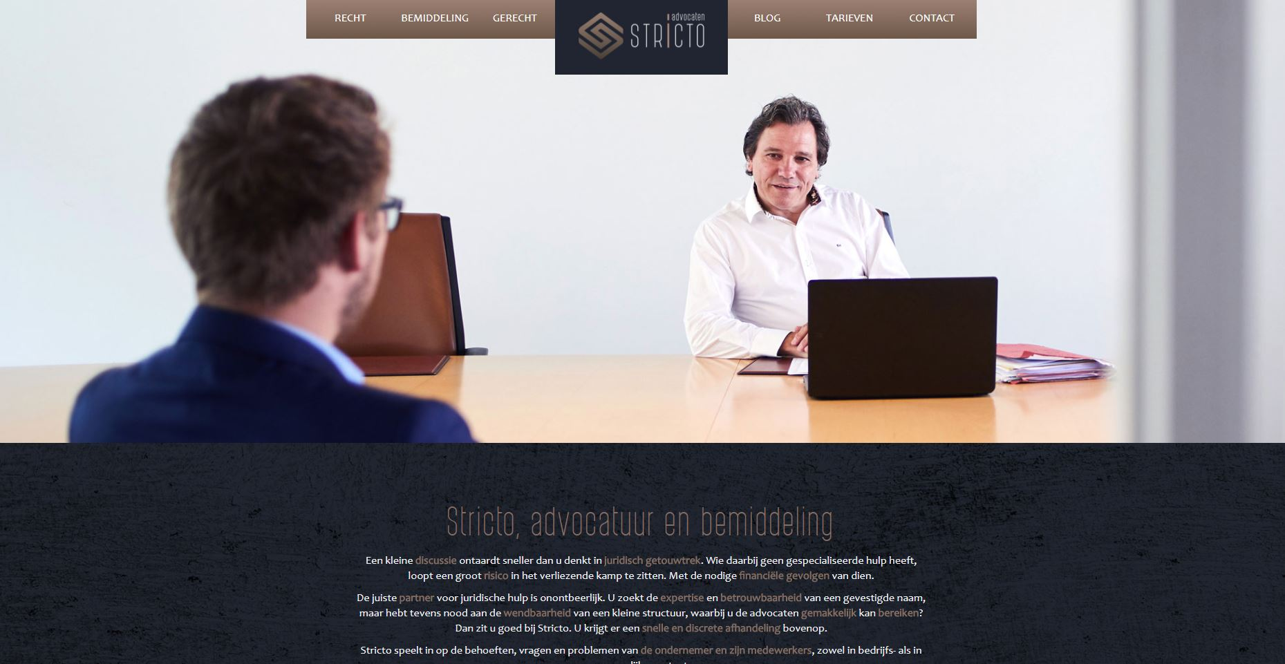 stricto advokaten website sinergio